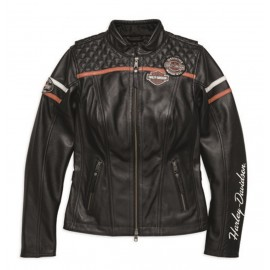 WOMENS ENTHUSIAST LEATHER JACKET BY HARLEY DAVIDSON