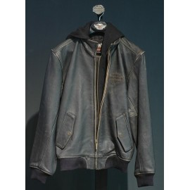 Harley-Davidson Brew Leather Jacket with Zip-Off Hood