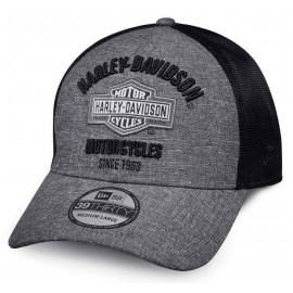 Harley-Davidson® Men's Classic 39THIRTY Baseball Cap, Gray & Black