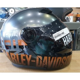 VANOCKER J08 MODULAR HELMET BY HARLEY DAVIDSON SILVER/ORANGE