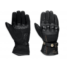 COWLEY CE-CERTIFIED MESH/LEATHER GLOVES BLACK