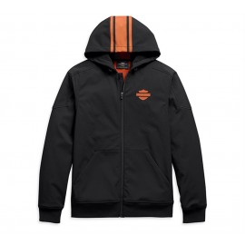 VERTICAL STRIPE HOODED STRETCH JACKET BY HARLEY DAVIDSON