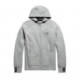 RIB-KNIT SIDE HOODIE GREY BY HARLEY DAVIDSON