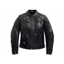 EPIC PERFORATE LEATHER BIKER JACKET BY HARLEY DAVIDSON