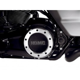 HDMC™ ENGINE TRIM - DERBY COVER - BLACK WITH MACHINED HIGHLIGHTS