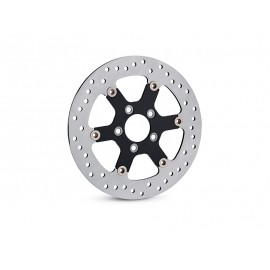 ANNIHILATOR BRAKE ROTOR - REAR - GLOSS BLACK INNER