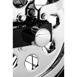 CHROME REAR AXLE NUT COVERS
