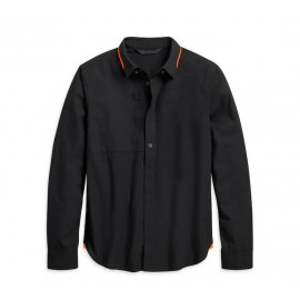 HARLEY-DAVIDSON® MEN'S HIDDEN BUTTON SHIRT - SLIM FIT