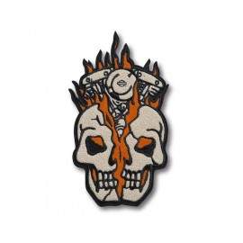PARCHE TERMOADHESIVO -MULTI COLOR SKULL BUST IRON-ON PATCH
