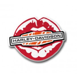 PATCH-MULTI COLOR KISS HARLEY IRON-ON PATCH