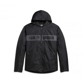 JACKET-WOVEN,BLACK/GREY