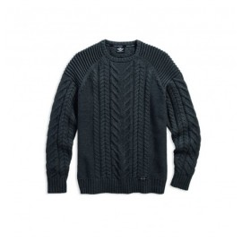 SWEATER-CABLE KNIT,HVY WGHT,GR BY HARLEY DAVIDSON