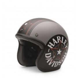 CASCO HARLEY DAVIDSON -BELL,GREY STAR RETRO,3/4