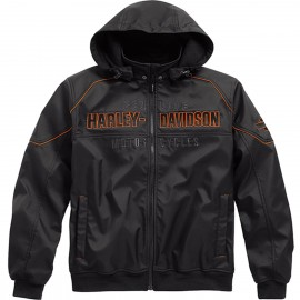 HARLEY-DAVIDSON MEN'S IDYLL WINDPROOF SOFT SHELL JACKET