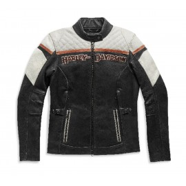 HARLEY-DAVIDSON WOMEN'S H-D TRIPLE VENT MISS ENTHUSIAST II LEATHER JACKET
