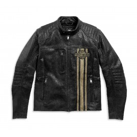 HARLEY-DAVIDSON TRIPLE VENT PASSING LINK II LEATHER JACKET