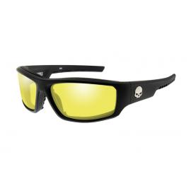 HABFL11 H-D GLASSES BAFFLE Yellow Matte Black Frame