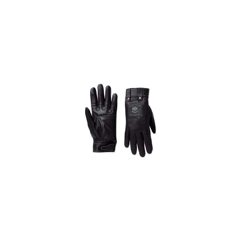 Skull Full-Finger Leather Gloves