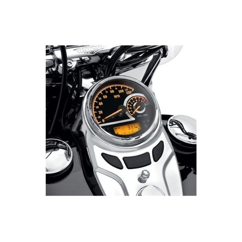 "Velocímetro y tacómetro analógicos de 5"", cuadrante negro, km/h."