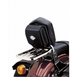 Leather Sissy Bar Bags - Bar & Shield Logo Concho