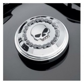 Embellecedor del tapón - Jeweled Skull&Chain Cromado