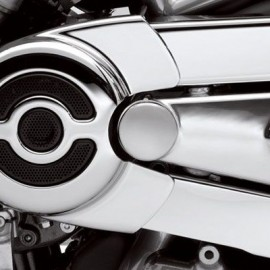 Swingarm Pivot Bolt Covers - Chrome