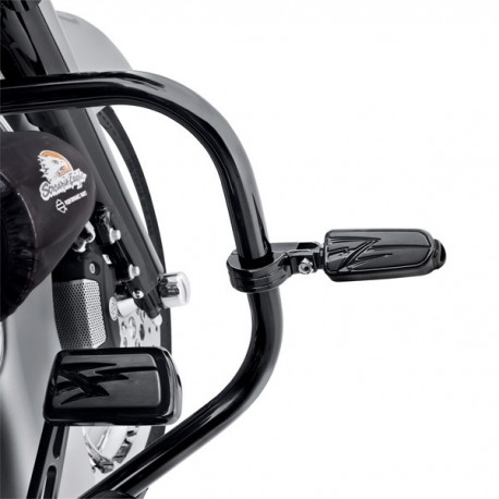 Kit de fijacion de estriberas estilo billet en la proteccion del motor