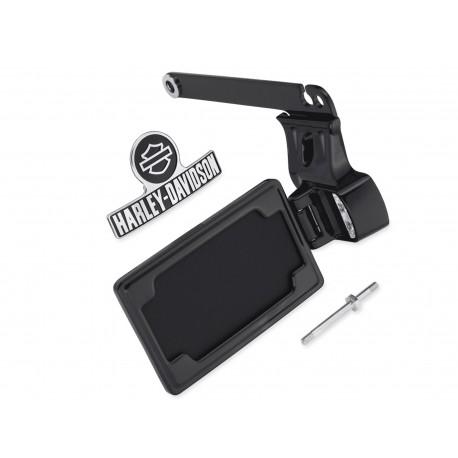 Kit de la placa de matricula de montaje lateral - Negro Brillante