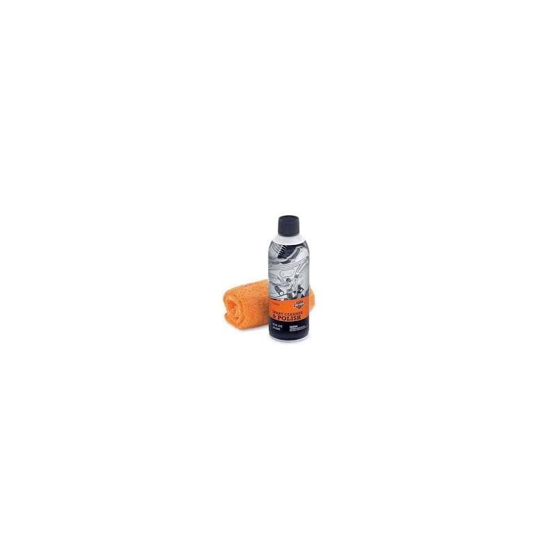 Spray Limpiador y Abrillantador + paño de microfibra