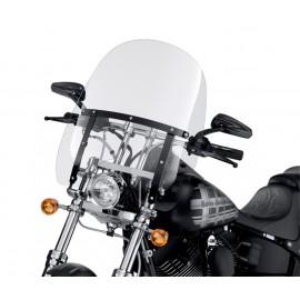 Parabrisas Compacto Desmontable Transparente con Soportes Negros XL
