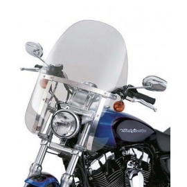 Quick-Release Compact Windshield With Polished Braces XL- Light Smoke