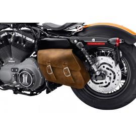 Single-Sided Swingarm Bag - Distressed Brown Leather