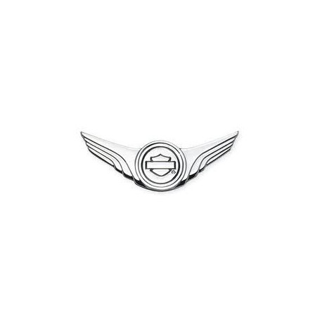 Logotipo Bar&Shield con alas - Cromado