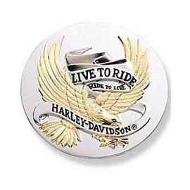 """Medallon con logotipo """"Live to Ride"""" Grande"""