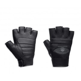 GLOVE-F/L,WINGED SKULL,BLK