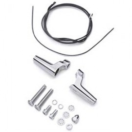 Front Turn Signal Relocation Kit - Chrome