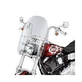 Parabrisas Compacto Detachable Soportes Pulidos FX Softail