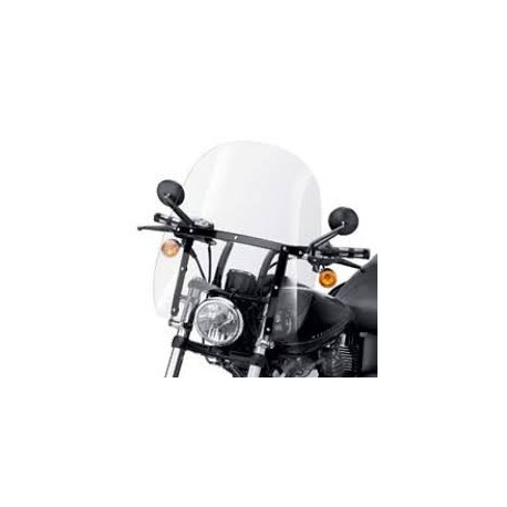 Parabrisas Compacto Detachable Soportes Negros FX Softail