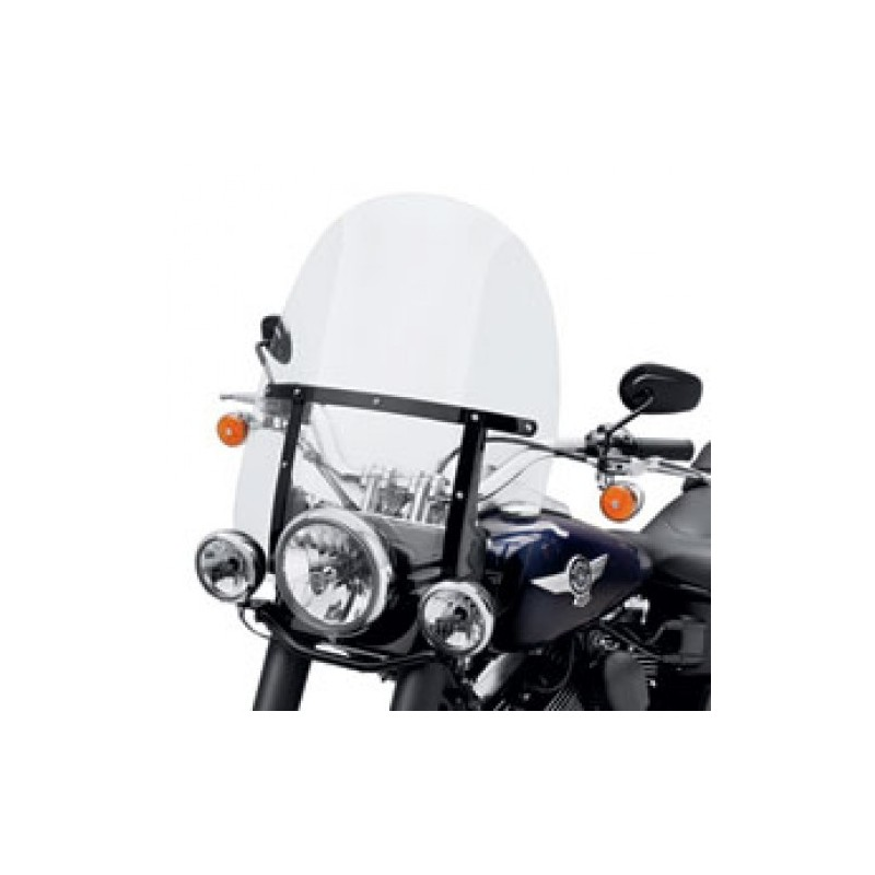 Parabrisas King-Size Detachable Soportes Negros FL Softail