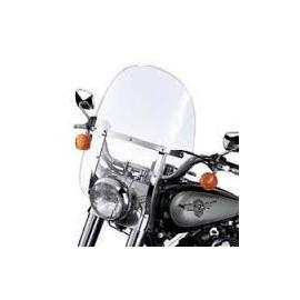 Parabrisas King-Size Detachable Transparente con Soportes Pulidos FL Softail