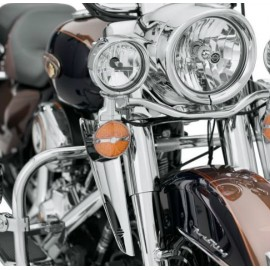 FORK-MOUNT WIND DEFLECTORS - CHROME
