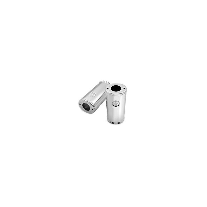 Tapas de las correderas superiores de horquilla cromado Bar&Shield