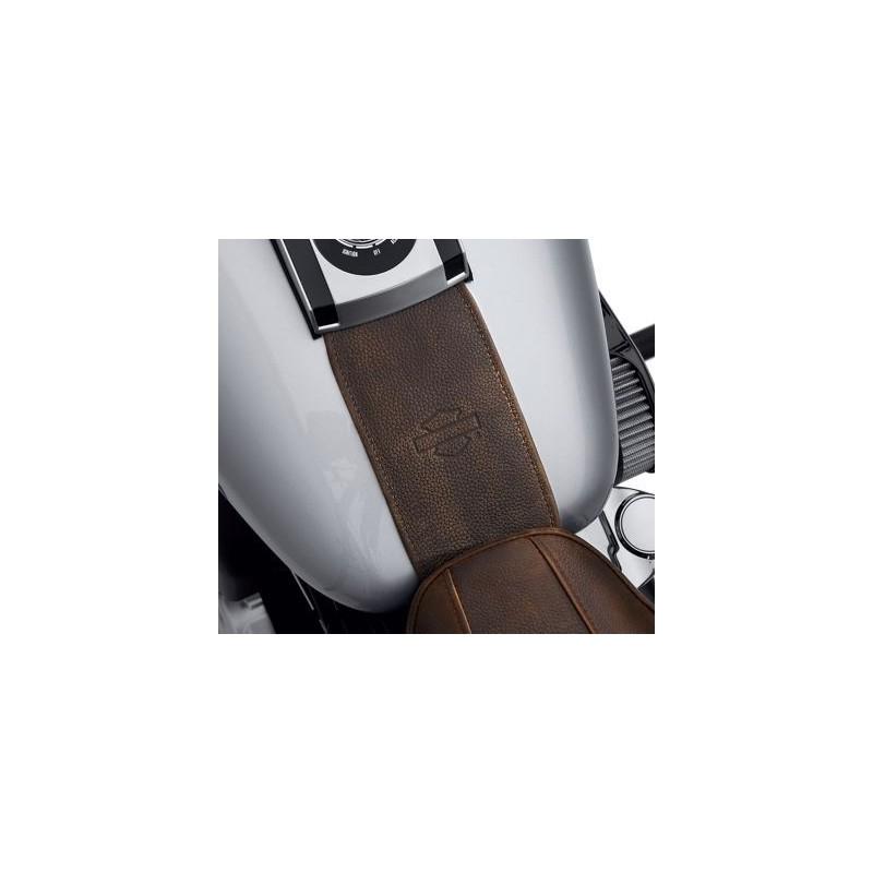 Panel del depósito en cuero marrón envejecido
