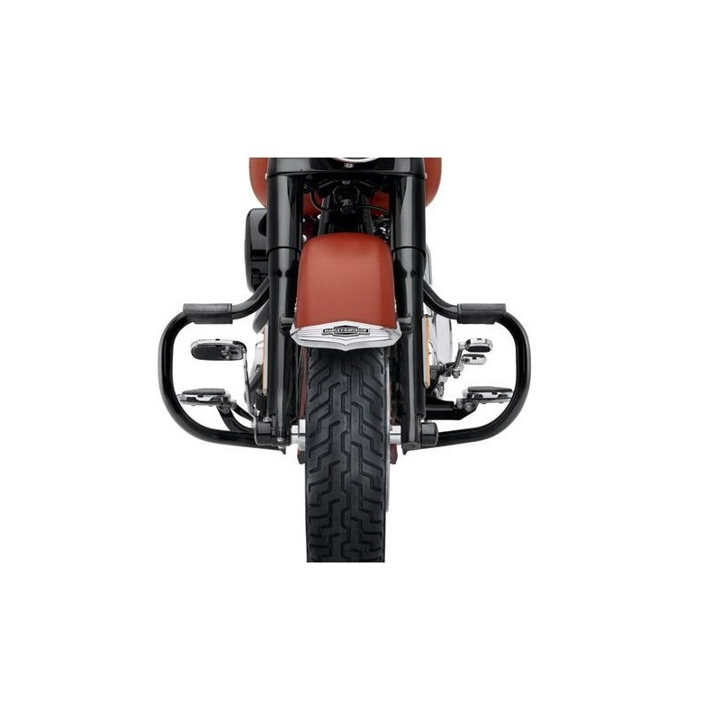 Defensa de motor mustache negra Softail FL