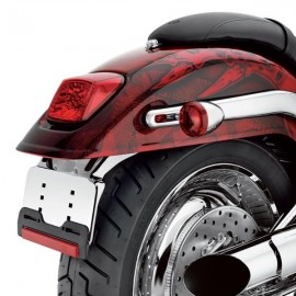 Custom Led Tail Lamp - Red Lens with Chrome Reflector