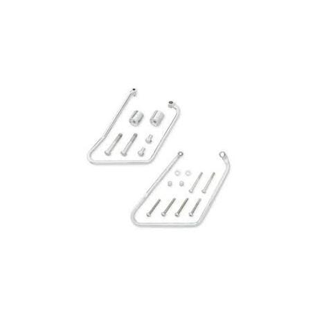 Soportes cromados para alforjas