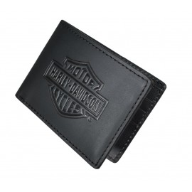 Cartera Bar & Shield Logo Flip Fold Wallet