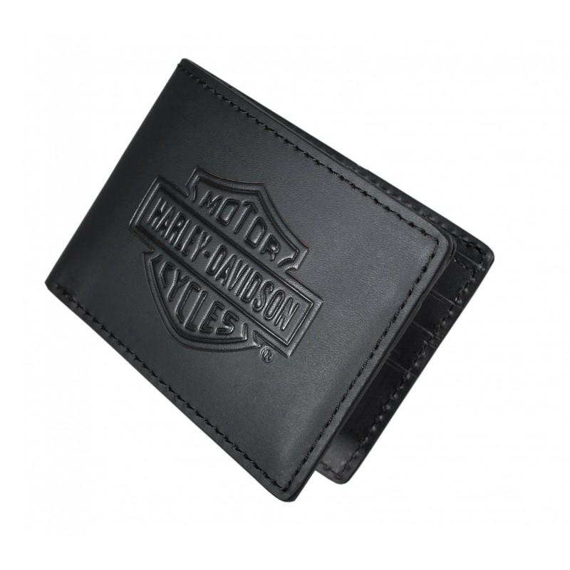 Bar & Shield Logo Flip Fold Wallet